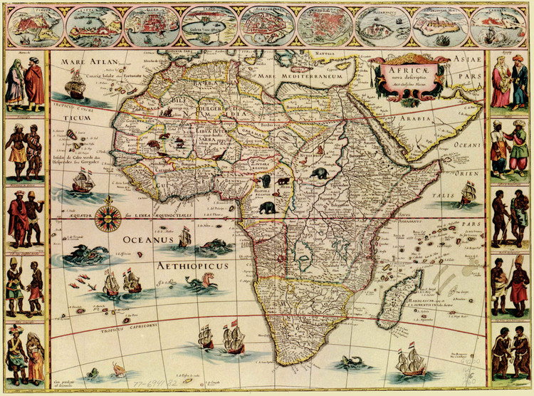 Historic Map - Africa - 1660