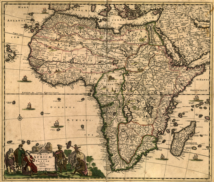 Historic Map - Africa - 1688