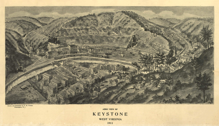 Historic Map - Keystone, WV - 1911