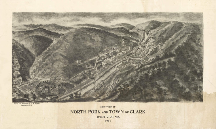 Historic Map - North Fork, WV - 1911
