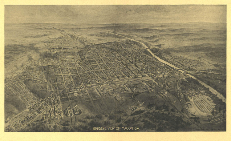 Historic Map - Macon, GA - 1912