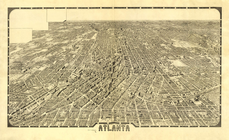 Historic Map - Atlanta, GA - 1919