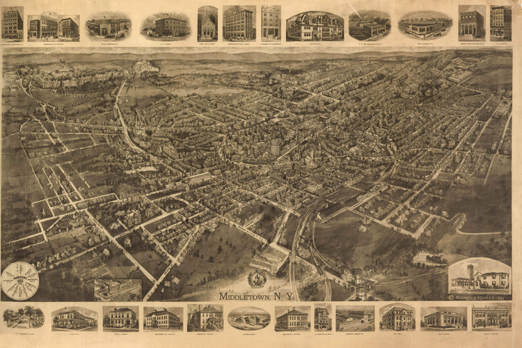 Historic Map - Middletown, NY - 1921