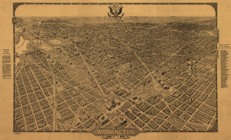 Historic Map - Washington, DC - 1922
