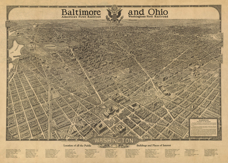 Historic Map - Washington, DC - 1923