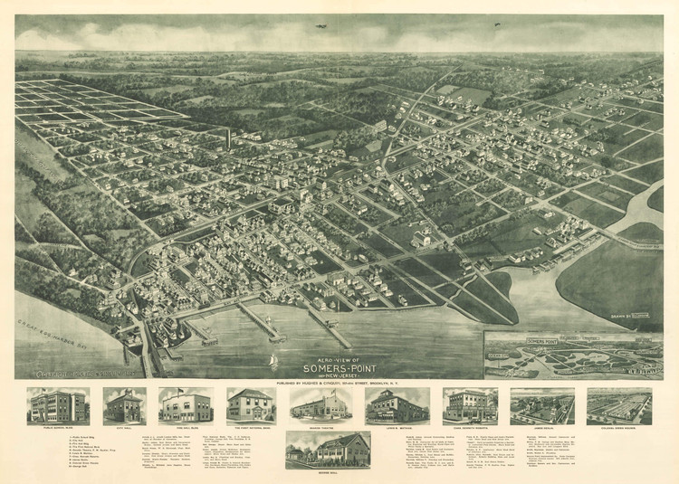 Historic Map - Somers Point, NJ - 1925