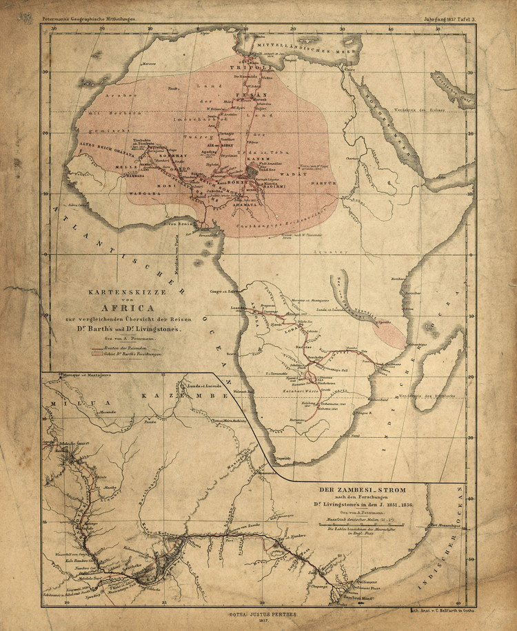 Historic Map - Africa - 1857