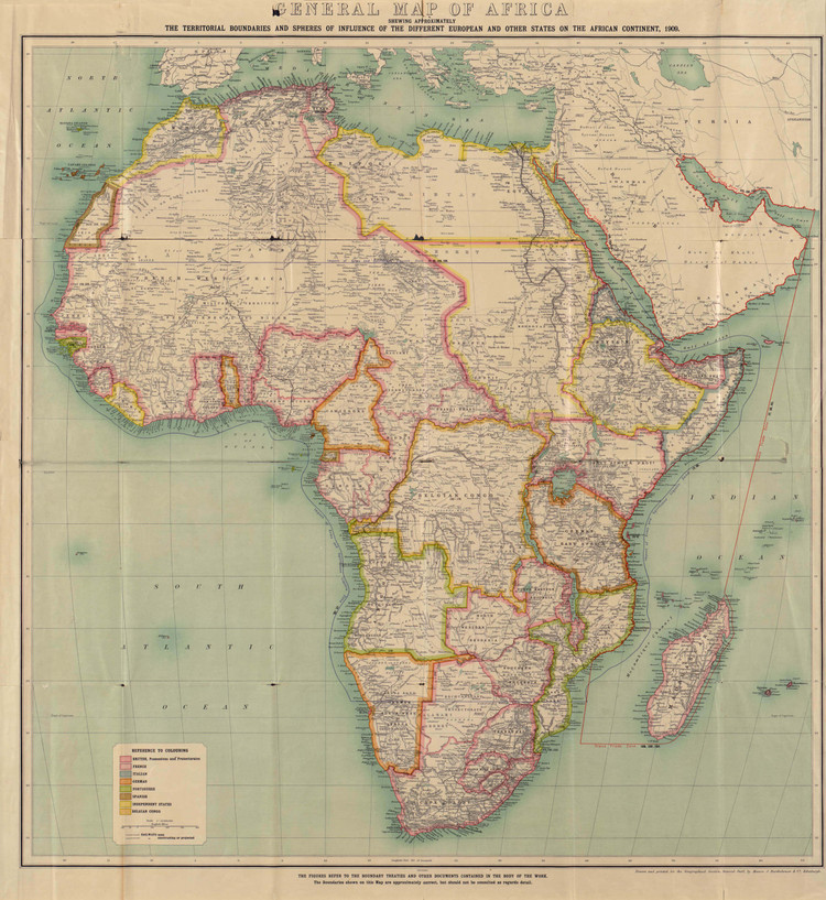 Historic Map - Africa - 1909