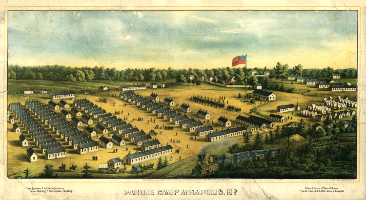 Historic Map - Annapolis, MD - Civil War - Parole Camp Annapolis - 1864