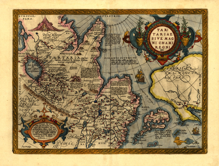 Historic Map - Asia - 1570