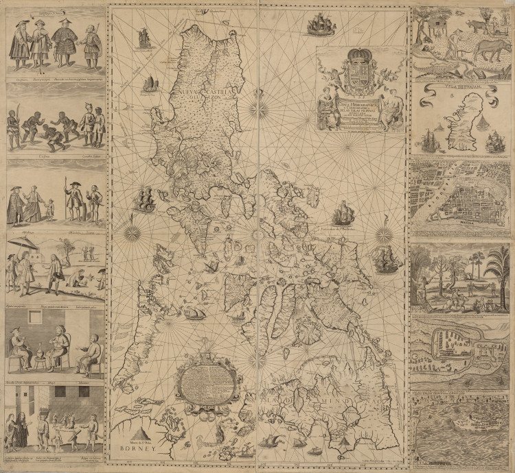 Historical Map of the Philippines - 1734