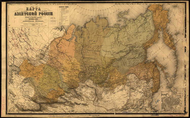 Historic Map - Russia - 1868