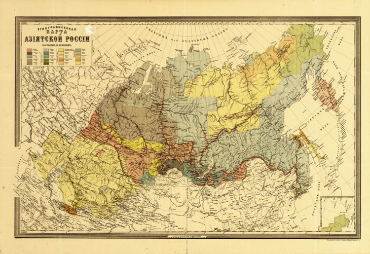 Historic Map - Russia - 1870