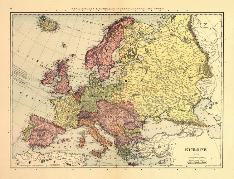 Historic Map - Europe - 1898