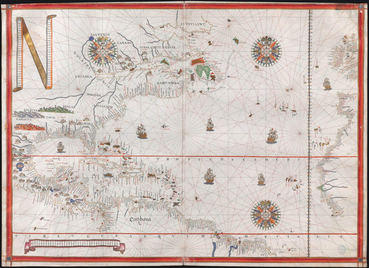 Historical Map of North America - 1587