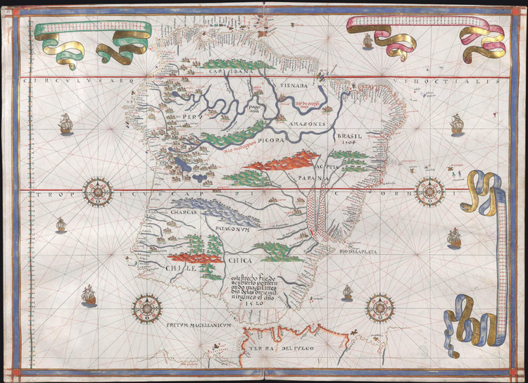 Historical Map of South America - 1587