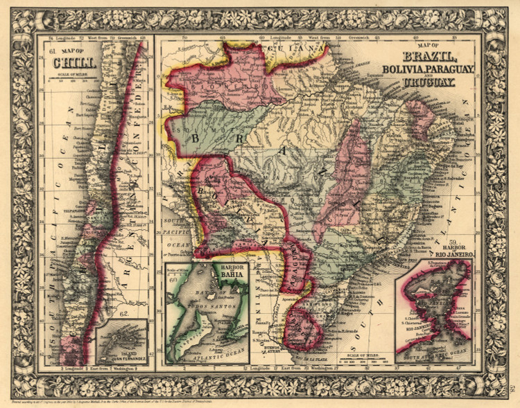 Historic Map - South America - 1870