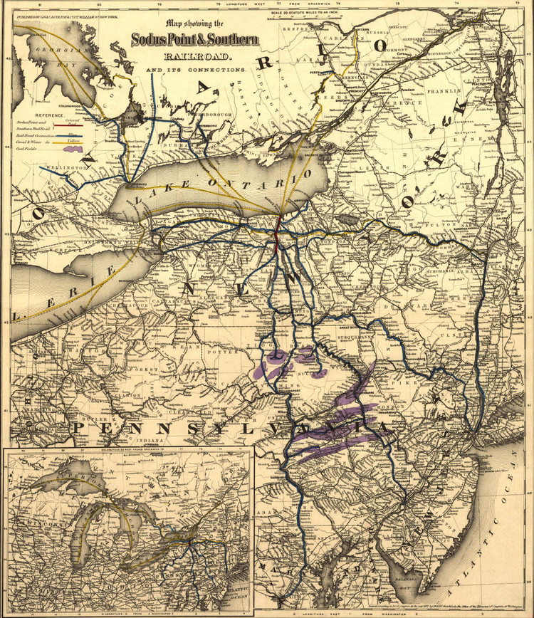 Historic Railroad Map of New England - 1872