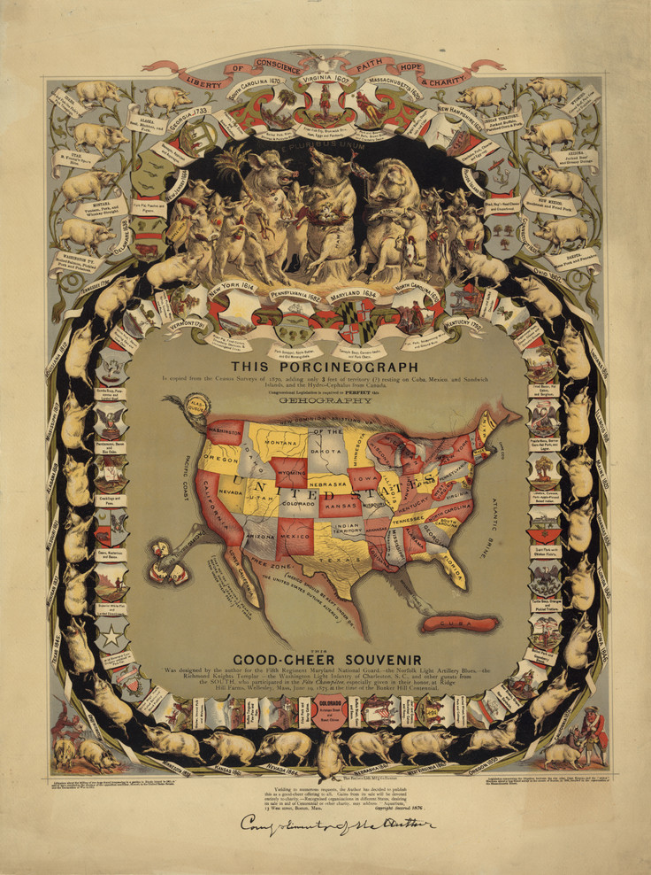 Historical Map of the United States - 1875