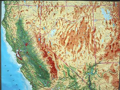 Raised Relief Maps of Nevada
