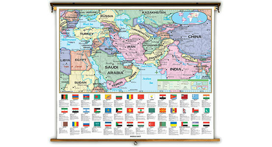 Middle East Classroom Maps