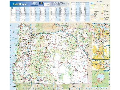 Oregon Wall Maps