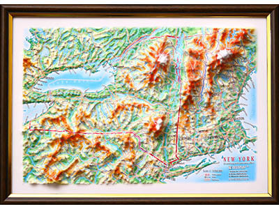 Raised Relief Maps of New York State