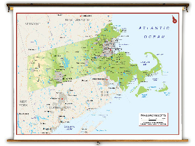 Massachusetts State Classroom Maps