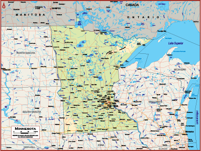 Minnesota Wall Maps