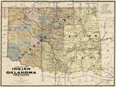 Historical Maps of Oklahoma