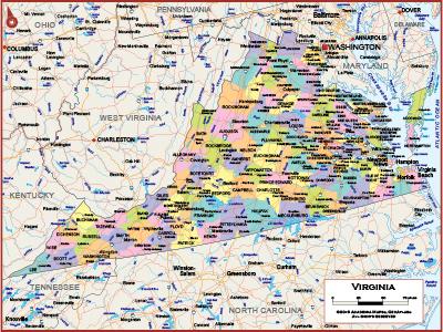 Virginia Wall Maps