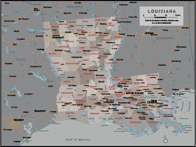 Louisiana Wall Maps