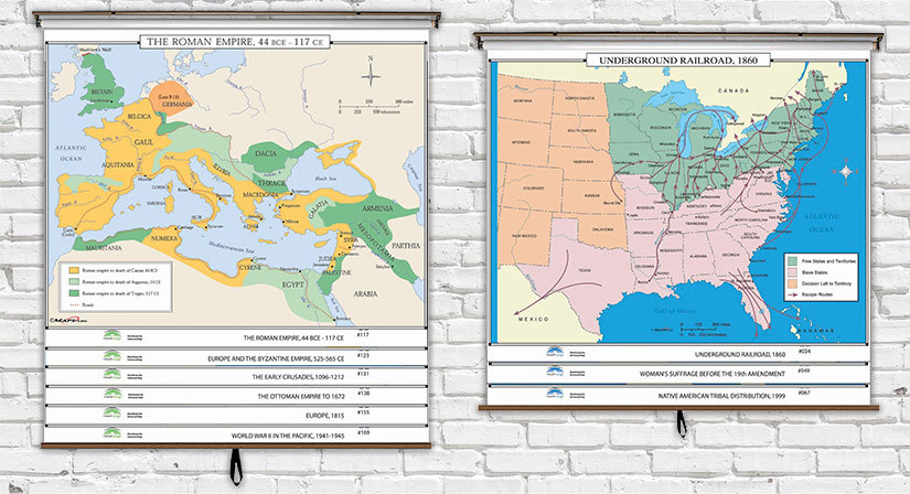 World & U.S. History Map Sets