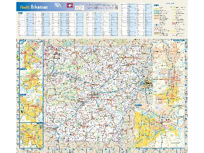 Arkansas Wall Map Posters
