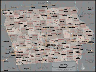 Iowa Wall Maps
