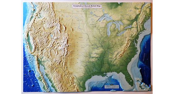 United States Raised Relief Maps