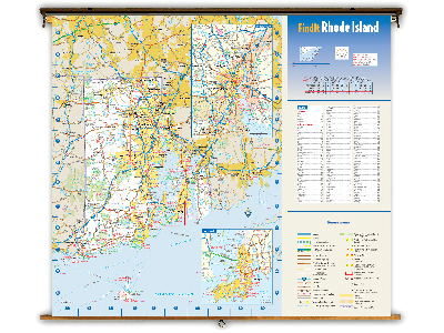 Rhode Island State Classroom Maps
