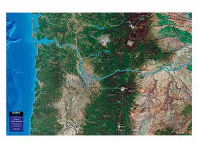 Raised Relief Maps of Oregon