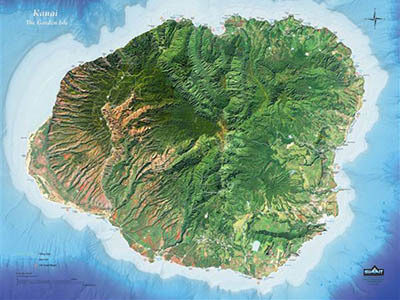 Raised Relief Maps of Hawaii