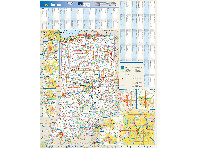 Indiana Wall Map Posters
