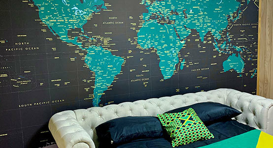 Custom Map Murals