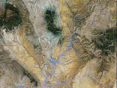 Raised Relief Maps of Utah