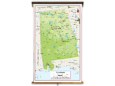 Alabama State Classroom Maps