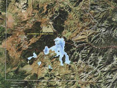 Raised Relief Maps of Wyoming