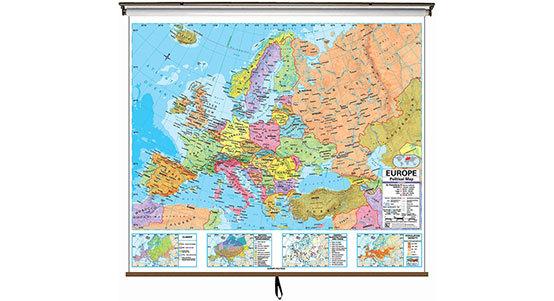 Europe Classroom Maps