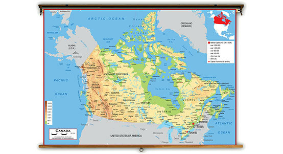 Canada Classroom Maps