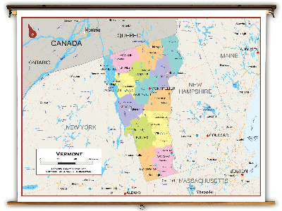 Vermont State Classroom Maps