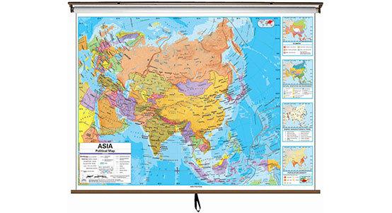 Asia Classroom Maps