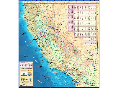 California Wall Map Posters