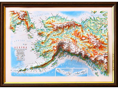 Raised Relief Maps of Alaska